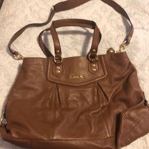 Brown Leather Coach Handbag